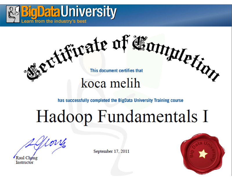 melih big data cert